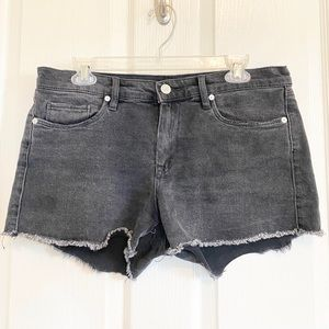 Charcoal denim shorts, Blank NYC sz 29